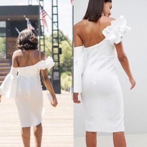 bcf963f3a97 ASOS Dresses - ASOS Premium Ruffle One shoulder midi dress
